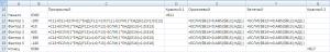 Расшифровка формул вспомогательной таблицы