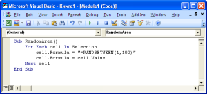 Код макроса VBA