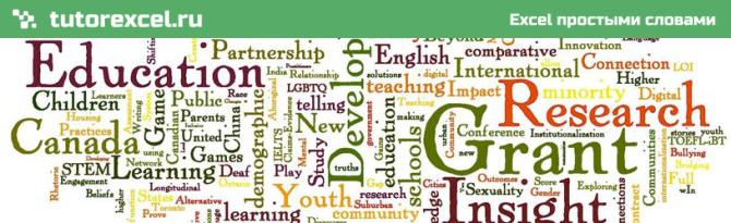 Количество слов в ячейке в Excel