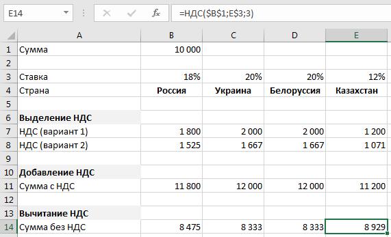 Пример расчета функции №2