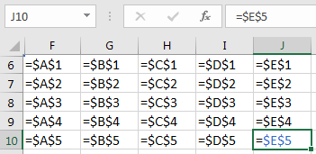 Преобразованная таблица. Вариант для $A$1