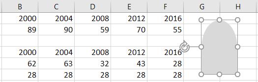 Добавление фигуры на лист Excel