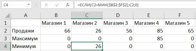 Добавление дополнительного ряда в таблицу (для поиска минимума)